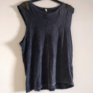 Spell Beaded/Distressed Tee Aus size 10
